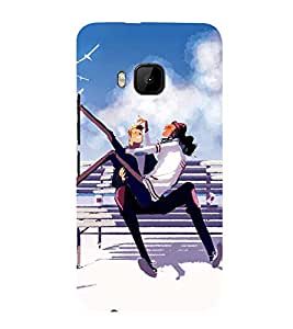 ANIMATED COUPLE ON A SEASIDE 3D Hard Polycarbonate Designer Back Case Cover for HTC One M9 :: HTC M9 :: HTC One Hima