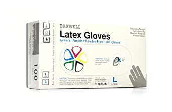 Daxwell Natural Rubber Latex General Purpose Glove, Powder Free, Ivory