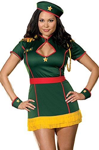 "Dreamgirl ""4 Star Pin up Plus Costume"" Military Costumes Plus Size for Women"
