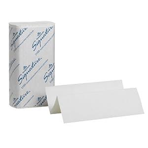 "Georgia-Pacific Signature 21000 White 2-Ply Premium Multifold Paper Towel, 9.4"" Length x 9.2"" Width (1 Pack, 125 per Pack)"