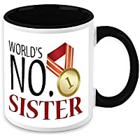 Mug For Sister - HomeSoGood Certified Best Sister White Ceramic Coffee Mug - 325 Ml