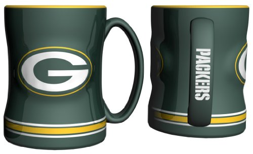 Green Bay Packers Nfl Coffee Mug - 15Oz Sculpted