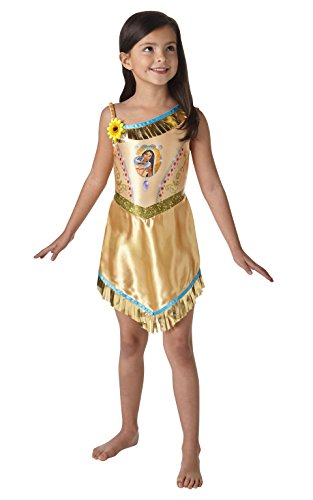 Fairtytale Pocahontas - Disney Princess - Bambini Costume - grande - 128 centimetri - Età 7-8