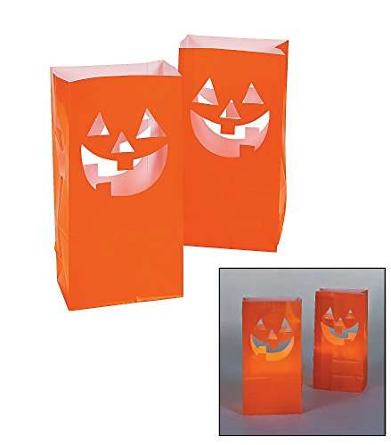 Fun Express JackO'Lantern Luminary Bags/Pumpkins/Halloween/Party Supplies Novelty