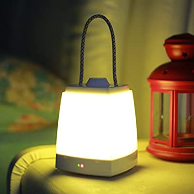 Q&F Kids' Room Bedside Lamp with 10-Minute Turn OFF Timer, Warm White Light, Rechargeable, Adjustable Brightness