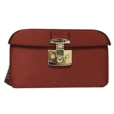 Amazon Com Gucci Lady Lock Red Satin Evening Clutch Bag