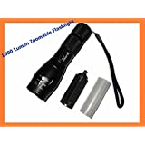 UltraFire CREE XML T6 LED Flashlight 5 Mode Zoomable Torch (Flashlight ONLY)