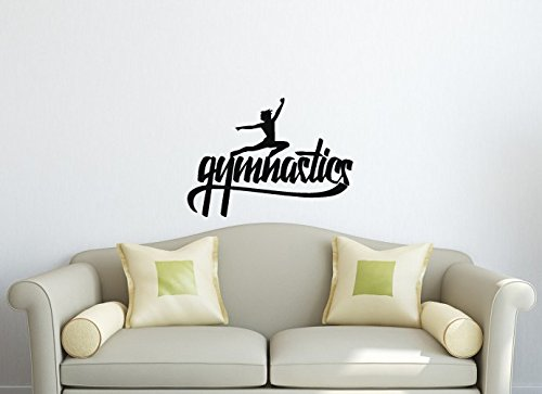Wall Vinyl Sticker Decal Art Design Gymnastic Hand Lettering Handmade Calligraphy Room Nice Picture Decor Hall Wall Chu961 front-577537