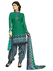 Women Icon Presents Green Embroidered Un-Stitched Dress Material WICKFRPCO15007