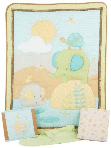 Summer Infant SwaddleMe 4 Piece Crib Bedding Set, Elephant Splash