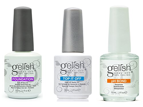 Gelish Gel LED 3 Pack - Foundation - Top - pH Bond (Gelish Ph Bond Dehydrator compare prices)