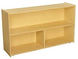 Childcraft 1526303 ABC Furnishings 3-Compartment Storage Unit, 27.38\