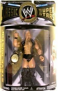 WWE Wrestling Classic Superstars Series 22 Action Figure Stone Cold Steve Austin (Smoking Skull Leather Vest) by WWE (Steve Nash Action Figure compare prices)