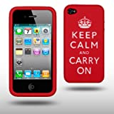 IPHONE 4 KEEP CALM & CARRY ON SILICONE SKIN CASE BY CELLAPOD CASESby CELLAPOD