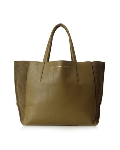Ampersand as Apostrophe Women's Small Reversible Tote, Olive Green