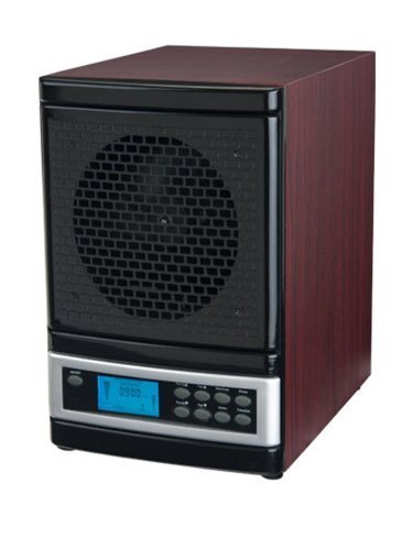 MicroLux ML4000DCH 7-Stage UV Ion Air Purifier with Remote, Cherry Wood Finish by Power Max