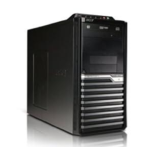 Acer CPU Veriton VM275 - Ordenador de sobremesa (Intel Pentium Dual-core E6600 3,06 GHz, 2x2GB DDR3 SDRAM, disco duro 500GB, lector de tarjetas, grabadora DVD, teclado y ratón USB, FreeDOS)