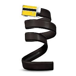 Mission Belt Men's Ratchet Belt - Charlie Buckle / Strap Brown Leather, Custom (Up To 56)