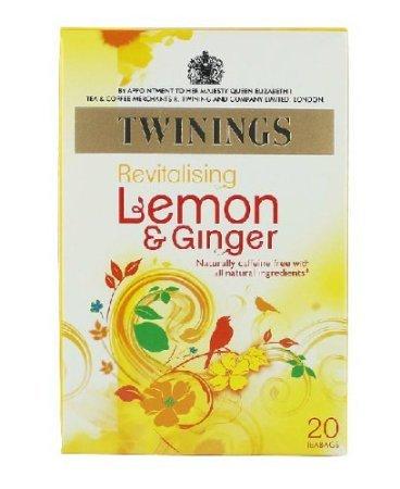 Twinings Herbal Tea, Lemon & Chinese Ginger, 20 Teabag Box (Pack Of 6)