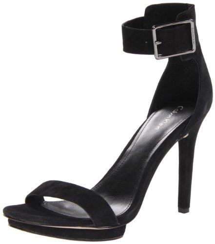 149860a1bb4 The Features Calvin Klein Women s Vivian Suede Platform Sandal Black 7 5 M  US -