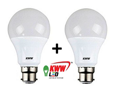 KWW 12W B22 LED Bulb (Cool Day Light, Pack Of 2)