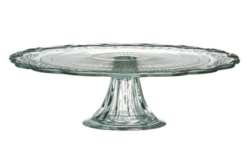 Premier Housewares Clear Glass Cake Stand/ Plate - 30 cm Diameter