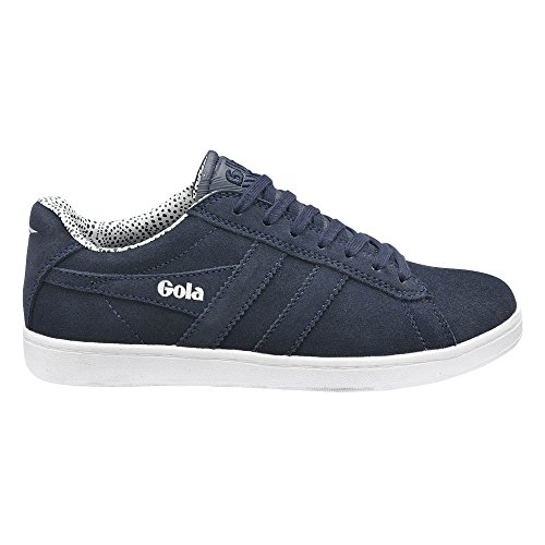 Gola Women's Equipe Dot Fashion Sneaker, Navy, 10 M US