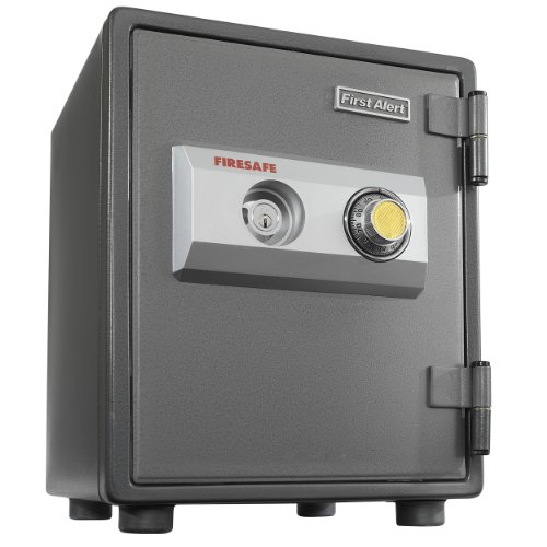 First Alert 2054F 1 Hour Steel Fire Safe with Combination Lock, 0.80 Cubic Foot, Gray (Dead Center Carbon compare prices)