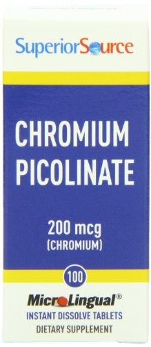 Superior Source Chromium Nutritional Supplements, 200 Mcg, 100 Count