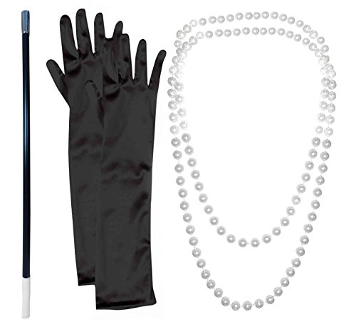 20s-Flapper-Gangster-Pearl-Necklace-With-Cigarette-Holder-And-Black-Gloves