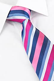 Ultimate Pure Silk Multi-Striped Tie with Stain Resistant� [T12-7763-S]