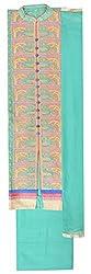 Gaurangi Fabrics Women's Cotton Unstitched Dress Material (Turquoise)