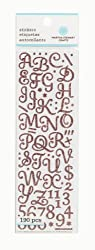 Martha Stewart Crafts Small Glitter Alphabet, Pink