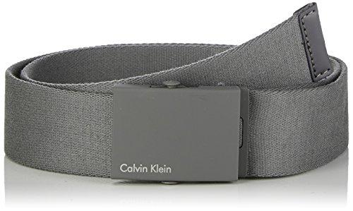 Calvin Klein Accessori - Canvas Adj Plaque Belt, cintura da uomo, abyss  20, 95