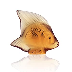 Lalique Fish-Amber Crystal