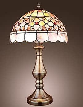 12 inch continental shell tiffany table lamp bedroom. Black Bedroom Furniture Sets. Home Design Ideas