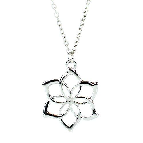Galadriel Flower collana pendente LOTR Signore degli Anelli Hobbit Smaug Elf