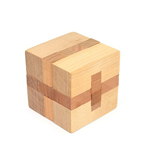 KINGOU Wooden square lock Puzzle Burr Puzzles Brain Teaser Intellectual Jigsaw Toy Magic Cube