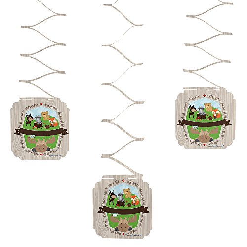 Woodland Creatures - Party Hanging Decorations - 6 Count - 1