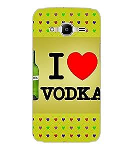SAMSUNG GALAXY J2 2016 I LOVE VODKA Back Cover by PRINTSWAG