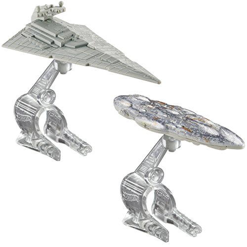 Hot Wheels Star Wars Starship Star Destroyer vs. Mon Calamari Cruiser Vehicle 2-Pack (Imperial Battle Cruiser compare prices)