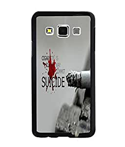 PrintDhaba Meaningful Text Back Case Cover for SAMSUNG GALAXY A3 - D3655