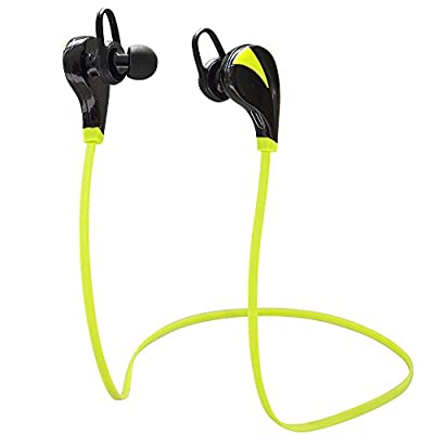 Sunvito Bluetooth Earbuds Wireless Stereo Headphones Headset Sports Running Gym Exercise Earphones Earpiece with Microphone & Rechargeable Li-ion Battery for Iphone 5s 5c 4s 4 Ipad 2 3 4 New Ipad Ipod Android Samsung Galaxy Smart Phones All Bluetooth Devi