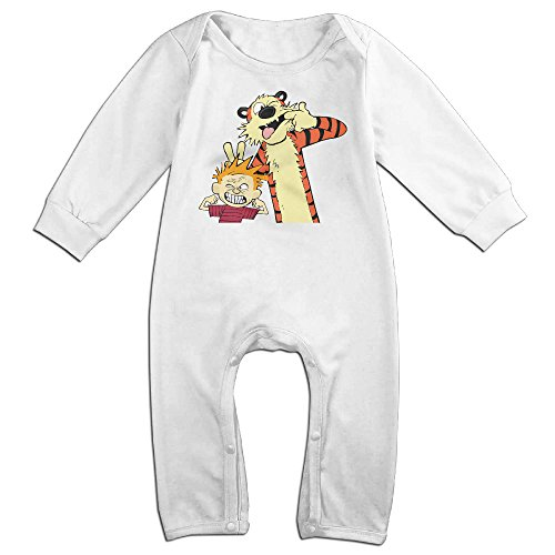 [SHUSKY Boy's & Girl's Calvin And Hobbes Long Sleeve Jumpsuit Outfits 18 Months] (Calvin And Hobbes Couple Costume)