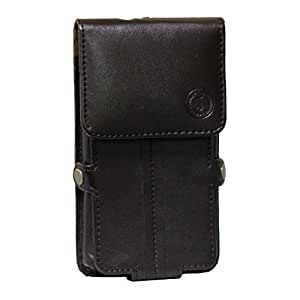 Jo Jo A6 G12 Series Leather Pouch Holster Case For Lava Mobiles Iris Alpha L Brown