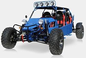 BMS Sand Sniper 1000 BLUE Gas 4 Cylinder 4 Seat Dune Buggy Go Kart
