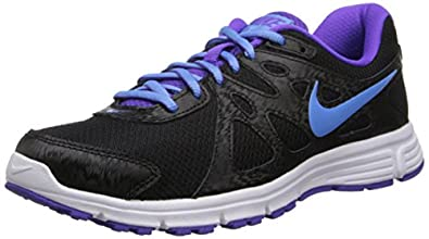 Nike Women's Revolution 2 Blk/Unvrsty Bl-Hypr Grp/White Running Shoe 6 Women US