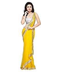 My online Shoppy Net Saree (My online Shoppy_61_Yellow)