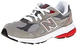 New Balance KJ990 Grade Running Shoe (Big Kid),Grey/Red,4.5 M US Big Kid