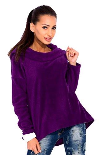 zeta-ville-femme-polaire-sweat-shirt-pull-molletonne-capuche-col-haut-491z-pourpre-eu-36-38-one-size